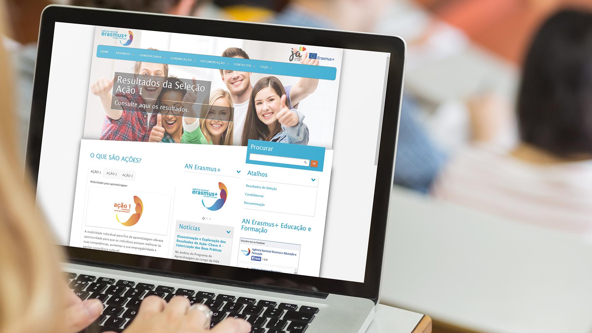 Agência Nacional Erasmus+ | Website responsive
